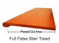 False Stair Treads In Oak Birch Maple Pine