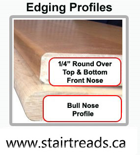 Solid Wood Replacement Stair Treads