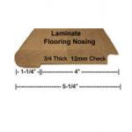 Nosing for laminate
